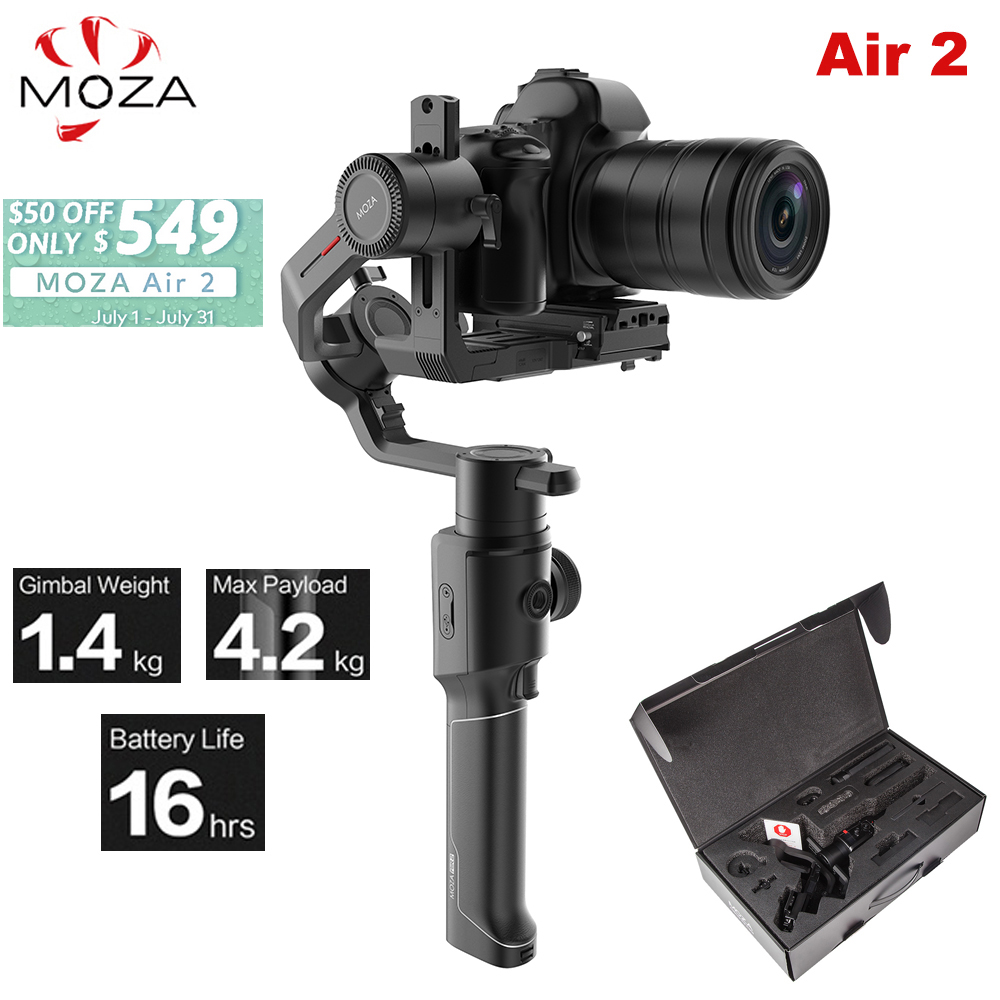 Moza Air 2 Air2 3 Axis Handheld Gimbal Stabilizer Maxload 4 2KG for Sony Canon DSLR