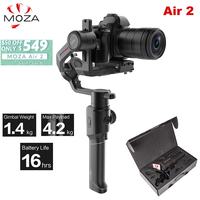 Moza Air 2 Air2 3 Axis Handheld Gimbal Stabilizer Maxload 4.2KG for Sony Canon DSLR PK DJI Ronin S Zhiyun Weebill LAB Crane 2