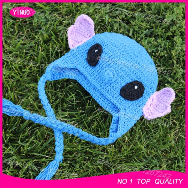 3c120000388 Australia hot sale Lilo   Stitch baby crochet hat   baby crochet photography    crochet goat hats   crochet animal hat wholesale-in Hats   Caps from  Mother ...