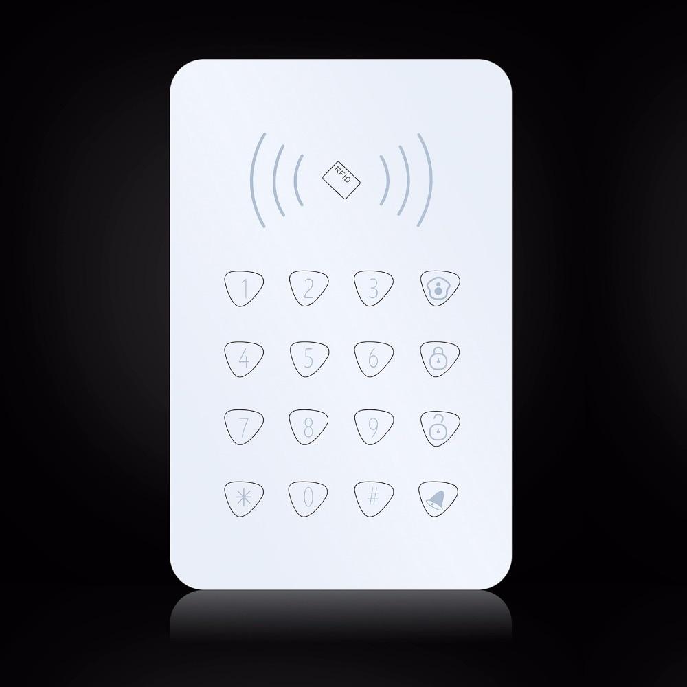 bilder für K07 Drahtlose RFID Touch-tastatur Mit 2 stücke RFID tags Passwort tastatur Für G90B GSM Wifi Hause Alarmanlage Security System 433 MHz