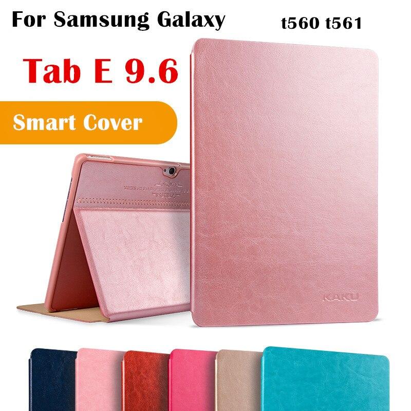 KAKU Tab E 9.6 Magent Flip Cover for Samsung galaxy Tab E 9.6 SM-T560 T561 Tablet Case Smart Cover Protective shell планшет samsung galaxy tab e sm t561 sm t561nzkaser