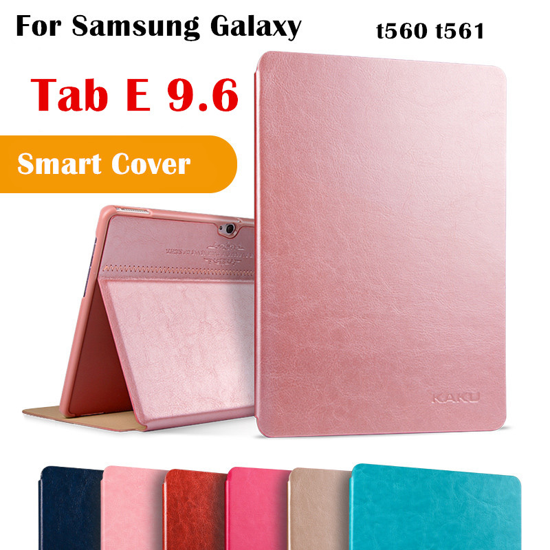 KAKU Tab E 9.6 Magent Flip Cover for Samsung galaxy Tab E 9.6 SM-T560 T561 Tablet Case Smart Cover Protective shell