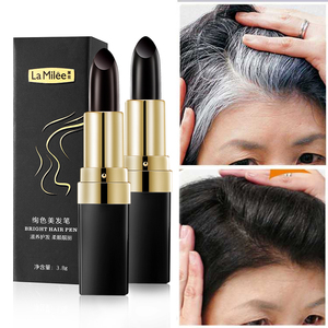 Image 1 - One Time Hair dye Instant Gray Root Coverage Hair Color Modify Cream Stick Temporary Cover Up White Hair Colour Dye 3.8g
