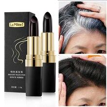 Tintura per capelli una volta copertura istantanea della radice grigia colore dei capelli modifica crema Stick copertura temporanea tintura per capelli bianchi 3.8g