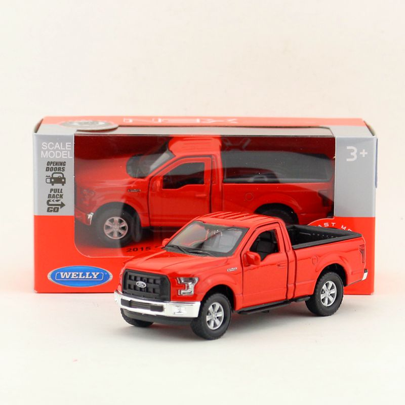 YJ 1/36 Scale Pull Back Car Toys 2015 Ford F-150 Pick-up Truck Diecast Metal Car Model Toy For Gift/Kids/Collection