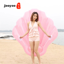 Hot Selling New Inflatable Scallop Floating Row Pink Shell Inflatable Floating Row Bed Summer High Quality Swimming jooyoo adults increase thickening inflatable chocolate sandwich floating row