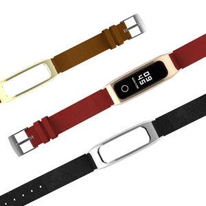 Image 4 - Mijobs voor Honor Band 4 Running Riem Echt Lederen Polsband voor Huawei Honor Band 4 Running Armband Strap Smart horlogeband