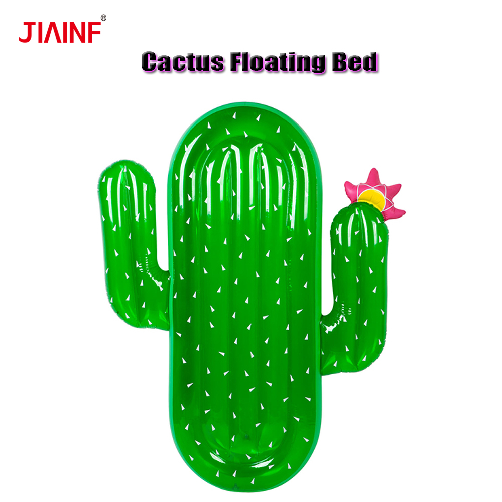 Green Cactus Inflatable Pads Mattress Swimming Pool Floating Row Beach Pool Party Toys
