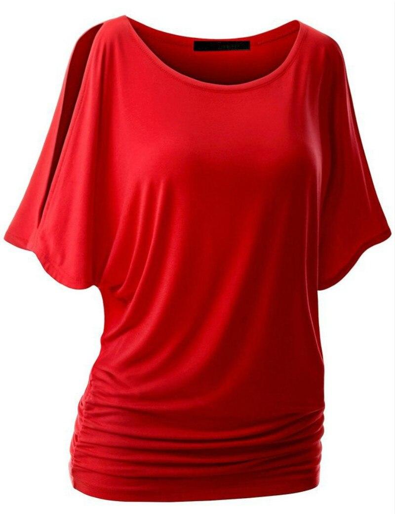 T-shirts pour Femmes Réservoir Corp Top Crochet Croisé Solide Femelle T-shirt Camisole Manches Chauve-Souris T-shirt Femmes 2017 Dix Couleurs