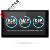 Isudar Universal Car Multimedia Player 2Din Android 9 DVD Automotivo Wifi Radio FM GPS USB DVR OBD2 Quad Cores RAM 2G ROM 16G