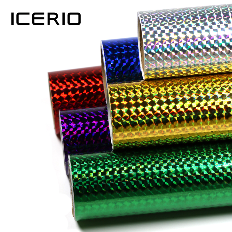 ICERIO 1 Roll Lure Building Jig Squid Skin Holographic Adhesive Film Sticker Flash Tape Sabiki Bait Decal Fly Tying Material