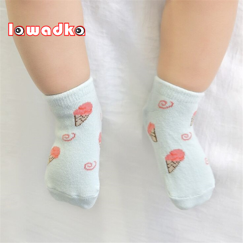 Lawadka Cotton Baby Socks Ice Cream Design Newborn Boys Girls Sock Cute Toddler Boat Socks Size SandM