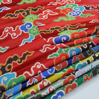 Chinese wind cheongsam dress cloth stage Tibetan costume Buddhist decoration handmade jacquard woven brocade fabric