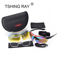 Sport Sunglasses With Five Pair Lens Outdoor Driving Fishing Riding Brand Design Men Driver Half Frame