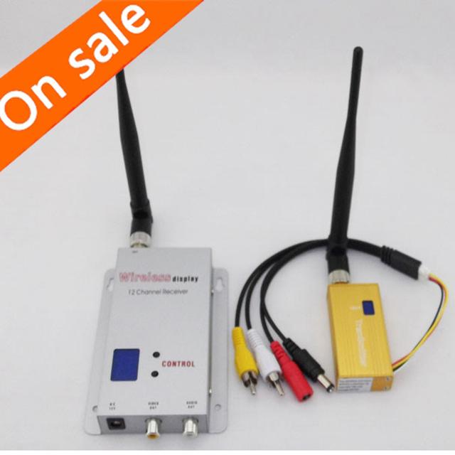 Conjunto 16-ch Remitente Audio Video AV Transmisor Receptor inalámbrico de 1.2 ghz 700 mw (Dc 12 v) para la Cámara de CCTV DVR FPV DVD