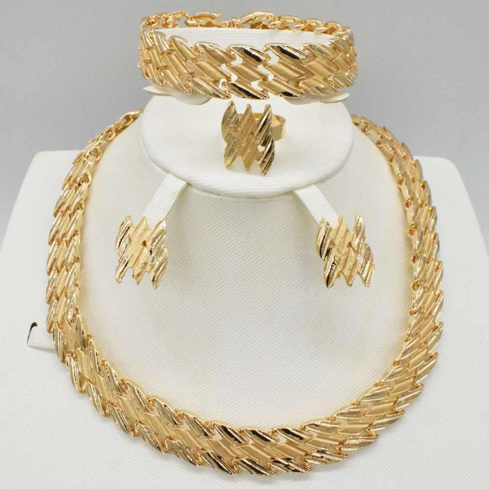 Jewelry Sets Women Indian African Jewelry Set Plant Party Cheap Wedding Jewellery For Brides Dubai Jewelry Sets