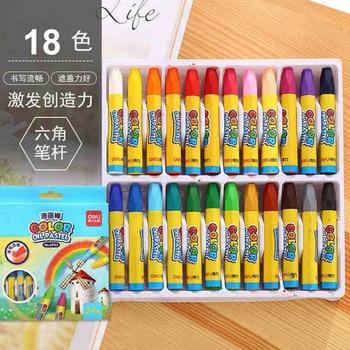 18 Colors Pencils Wax Caryon Set Lapis Decor Artist Painting Oil Pastel Pencil For School Children Drawing Sketch Art Supplies - discount item  32% OFF Art Supplies