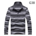 2016 New Arrival 100% Cotton Men's Striped Polo Shirt Long Sleeve Brand Men Casual Polo Shirt Big Size Shirt Tops & Tees 7010
