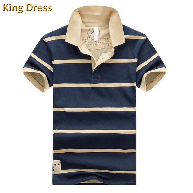 Solid Polo-shirt Real Cotton Striped 2016 High Quality Summer New Pattern Stripe Male Fashion Men's Short Sleeve Polo Shirt