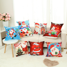 Santa Claus Christmas gifts pillowcase Car cushion ins wind cushion office sofa bedroom cute pillow Home decoration 45x45cm цена
