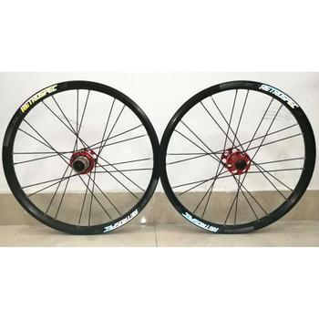 24 BMX Fahrrad   BMX MTB Folding Fahrrad Laufradsatz 20 Zoll 24 Löcher Aluminium Legierung 4 Lager Felgen 20mm Tiefe Bike Räder Teile