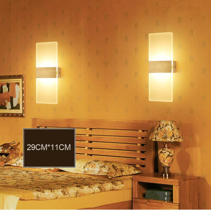 Pop 3w/6w LED Wall Sconces Aluminum Lights Fixture On/Off Decorative Lamps Night Light for Pathway Staircase Bedroom стоимость