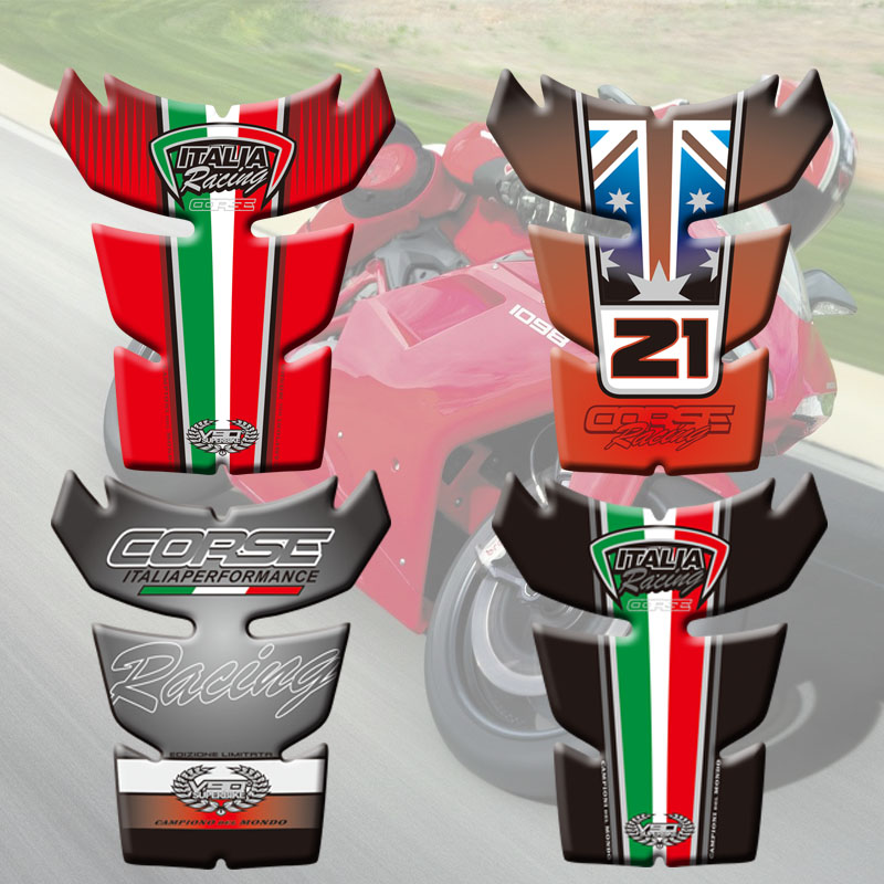 Motorcycle Stickers Fuel Tank Sticker Fishbone Protective Decals Fish Bone Sticker For Ducati 848 1098 1198