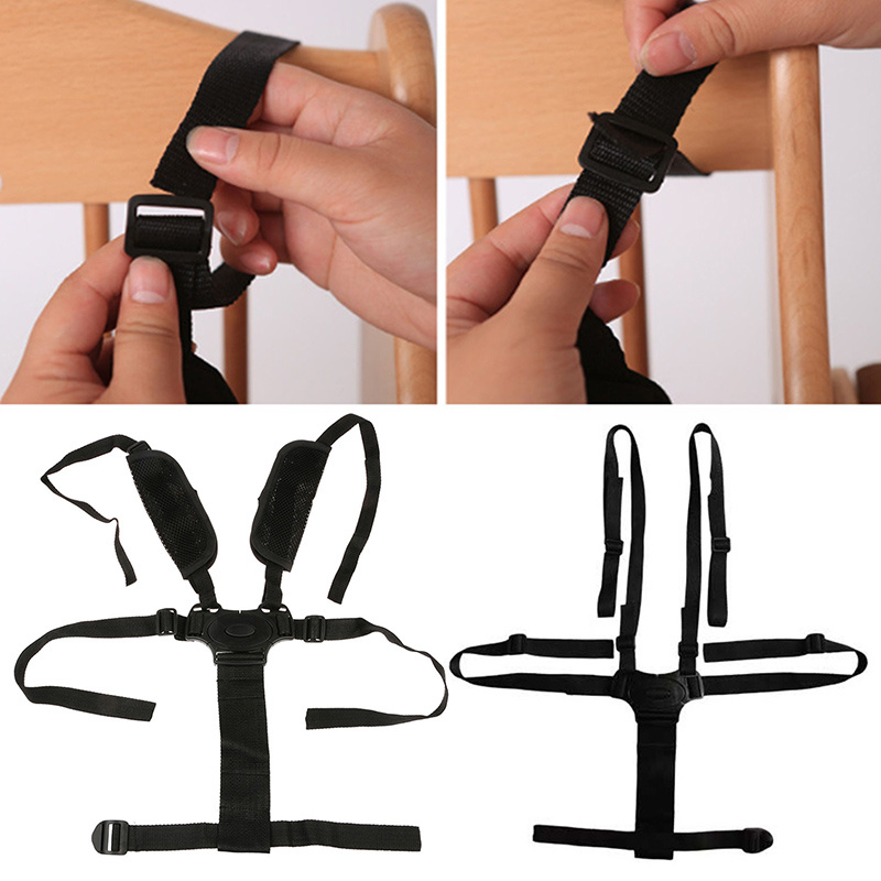 Baby Chair Portable 5 Point Harness Stroller High Chair Pram Buggy Car Seat Belt Strap Children Kid Protection Seat Safe Belt