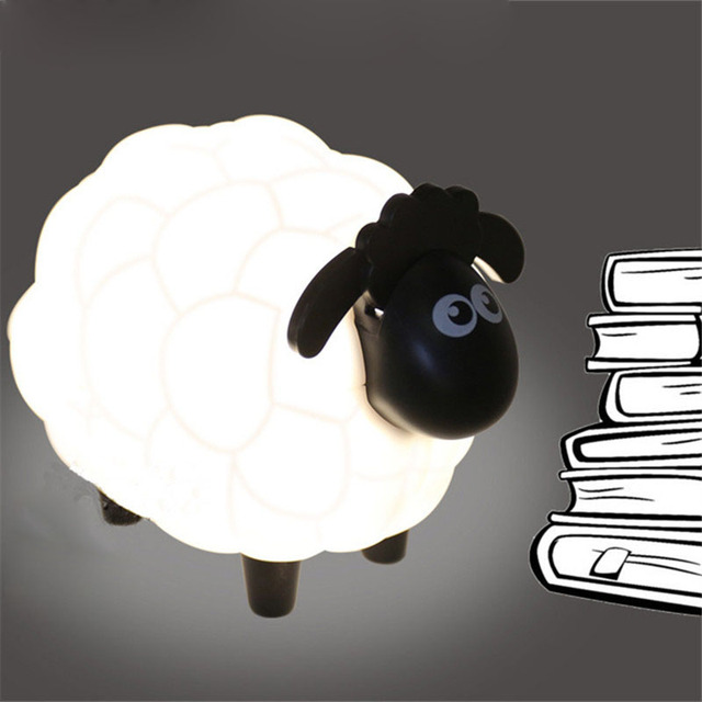 Cartoon Sheep Led Night Light Children Bedroom Desk Lamp Protect ...