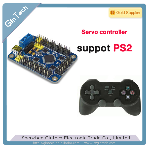 USB 32 way 32 channel Servo Motor Controller steering engine control board for Robot Chassis, support windows 8