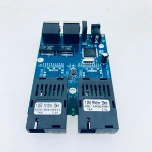 Image 3 - 10/100/1000M 기가비트 이더넷 스위치 이더넷 광 미디어 컨버터 단일 모드 2 RJ45 UTP 및 2 SC 광섬유 포트 보드 PCB