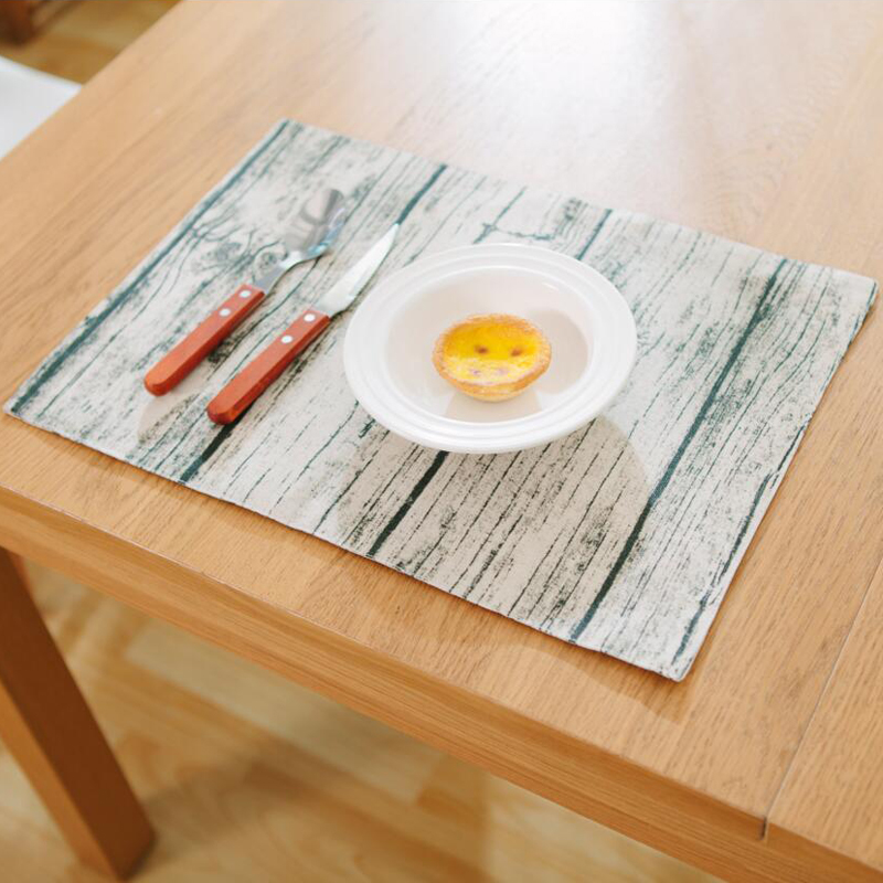 Aliexpress Retro Linen Tablecloths Creative Imitation Wood Placemat Personalized Dark Pattern Table Mat Napkin Pat Elegant Earance From