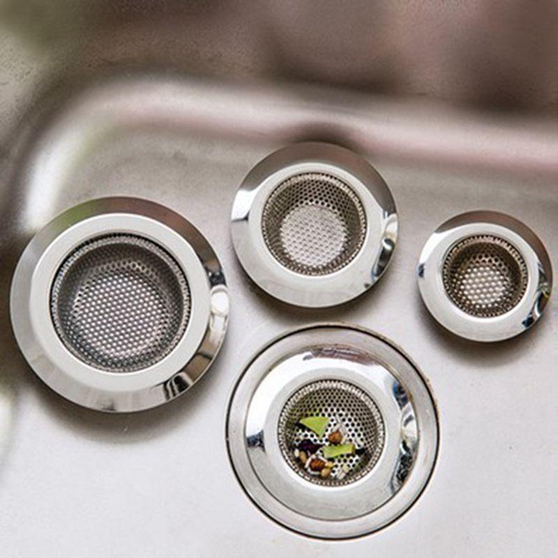 Free Shipping Kitchen Sink Basin Strainer Hair Trap Bath Plug Hole Waste  Filter Strainer Stee 1PC