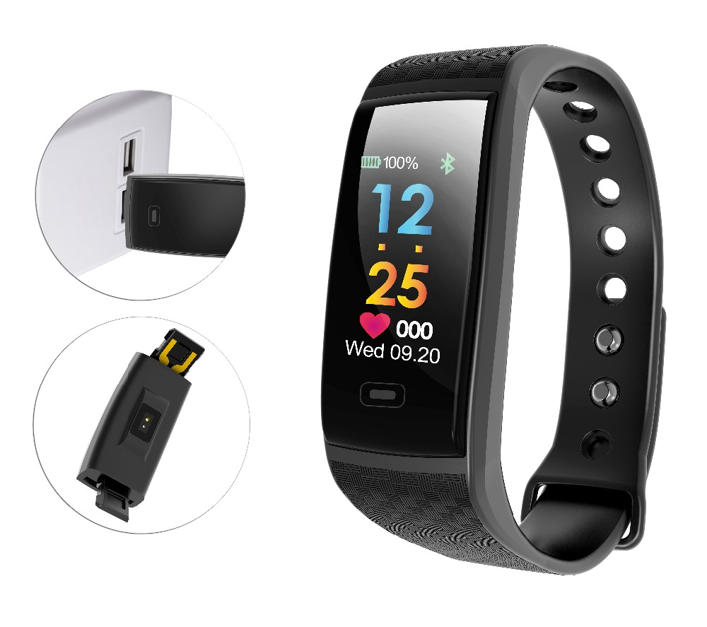 R17 Smart Bracelet Waterproof ECG Real -time Minitor Dynamic Heart Rate Sport Fitness Wristband Support USB-charge Watch
