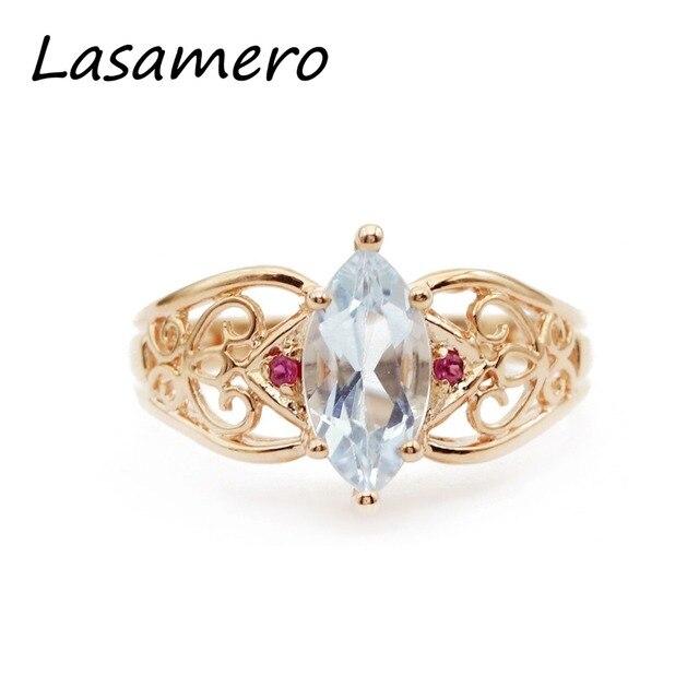LASAMERO Rings for Women 1.61ct Round Cut Natural Topaz Rings 925 Silver Engagement Wedding Rings