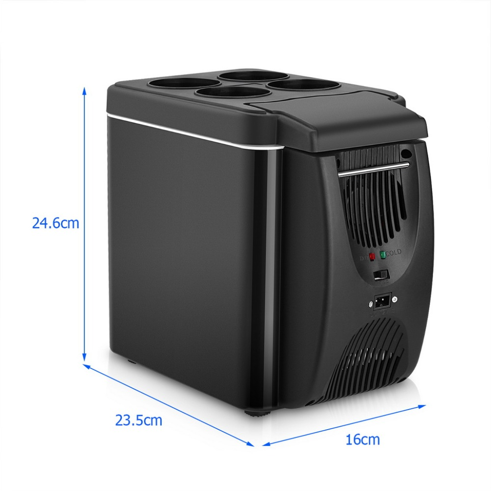 Small Portable Fridge Us 43 52 Mini 6l Auto Fridge Cooler Warmer 2 In 1 Multi Function 12v Car Refrigerator Portable Compressor Freezer Cooling To 5 Degree In
