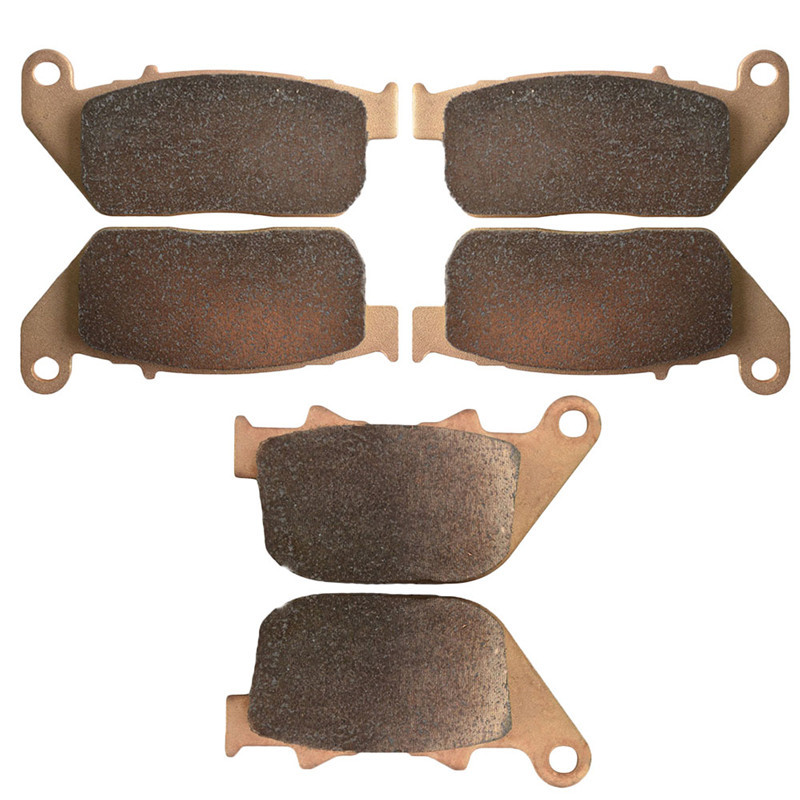 Motorcycle Parts Copper Based Sintered Motor Front & Rear Brake Pads For Harley Davidson XL1200L Sportster Roadster Brake Disk motorcycle front and rear brake pads for harley davidson xl 1200 r xl1200r sportster roadster 2004 2008 black brake disc pad