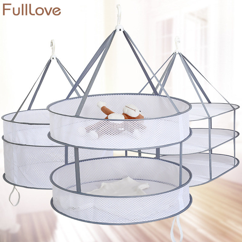 Hanging Drying Nets 2018 New Gray Folding Mesh Drying Rack Underwear Bra Clothes Hanger Dryer Laundry Storage & OrganizationHanging Drying Nets 2018 New Gray Folding Mesh Drying Rack Underwear Bra Clothes Hanger Dryer Laundry Storage & Organization