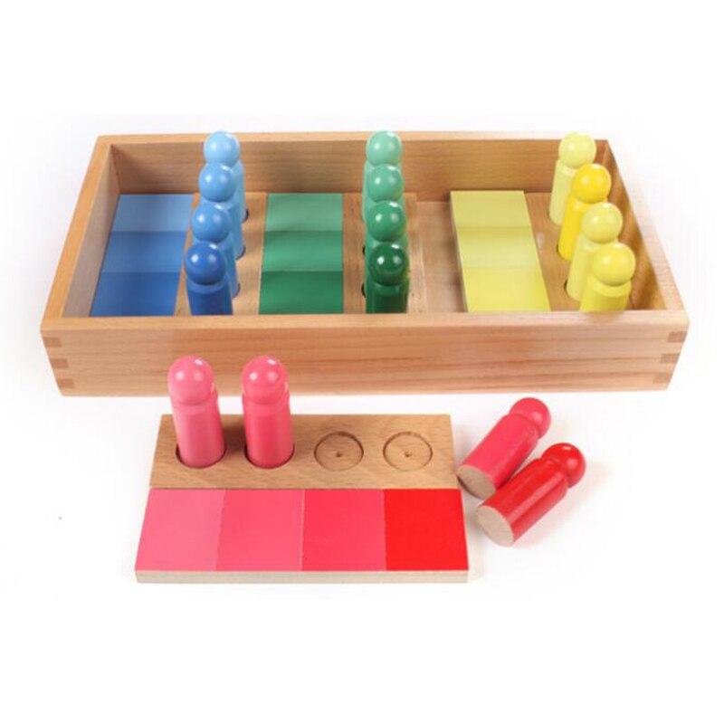Version familiale bébé jouet Montessori couleur ressemblance tri tâche bois petite enfance préscolaire enfants jouets Brinquedos Juguetes