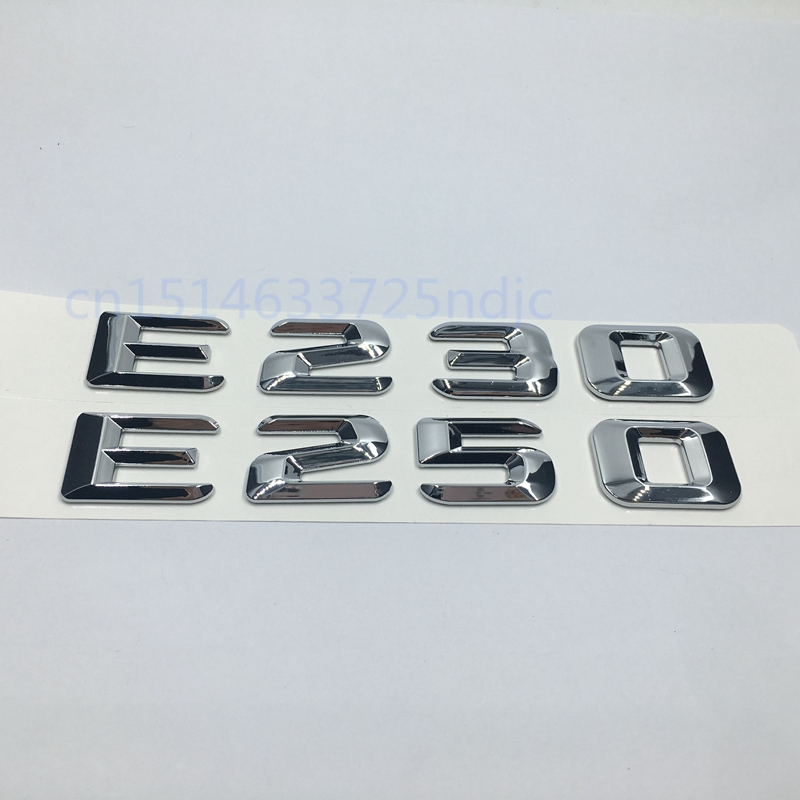 CHROME BENZ E550 REAR TRUNK LETTERS BADGE EMBLEM FOR MERCEDES BENZ E-CLASS