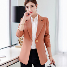 New Women's Clothes Autumn 2018 Suits Fashion Slim Formal Work Blazers One Button Long Sleeve Suit Casual Jackets Traje Terno