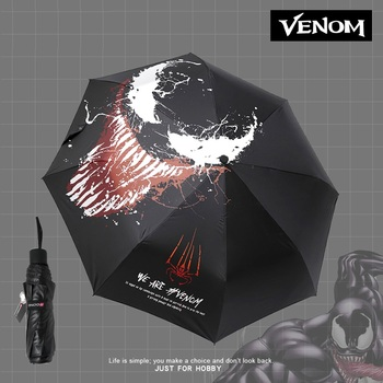 VENOM-Paraguas de VENOM Plegable, sombrilla, Paraguas, Guarda Chuva, Totoro, Parapluie