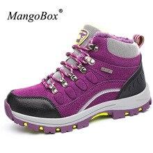 Mangobox Hunter Ботинки для Для женщин Зеленая обувь треккинг зимняя женская обувь Мех внутри Для женщин Треккинговые ботинки Удобная спортивная Ботинки Для женщин
