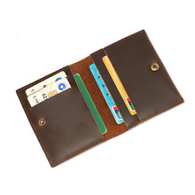 Porta Credencial Business Id Card Holder Credit Men Wallet Real Leather Vintage Billfold Porte Carte Bancaire