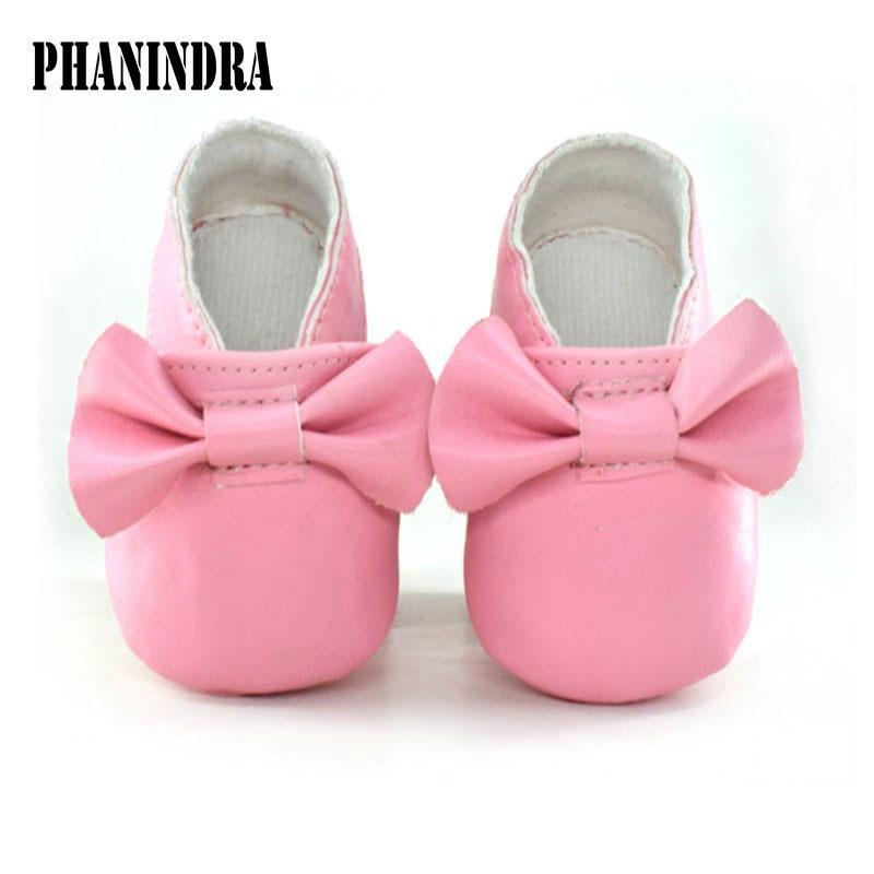 2017 PU Leather Newborn Baby Girls Princess bowknot Mary Jane Big Bow Prewalkers Soft Bottom Shoes Crib Babe Ballet Dress shoes