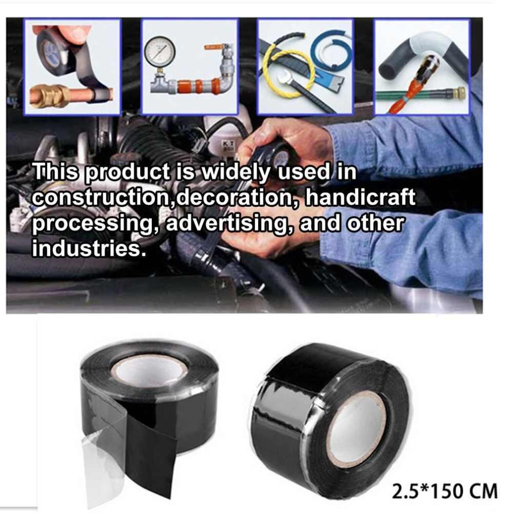 2.5*150-300 cm 방수 접착 테이프 전기 고압 자체 fluxing 실리콘 테이프 파이프 수리 실리콘 고무 도구