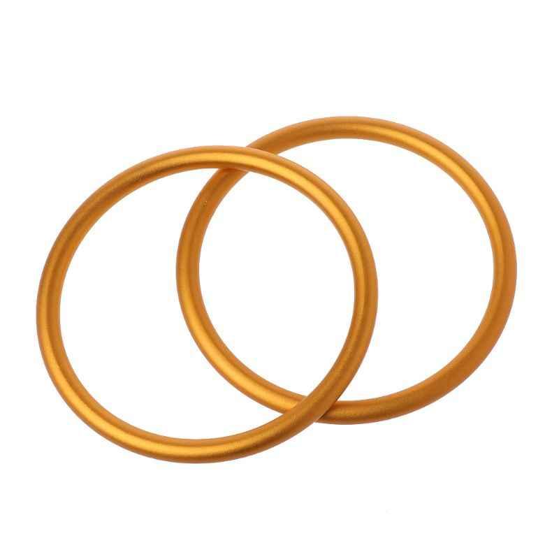 "2 unids/set portabebés anillas de aluminio para portabebés y eslingas portabebés accesorios de alta calidad diámetro 3"""