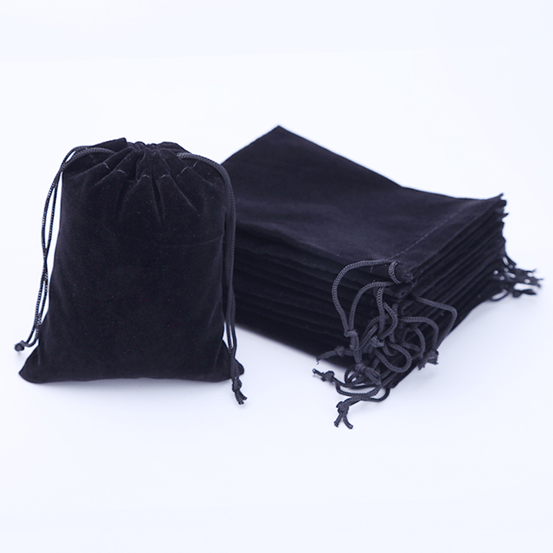 6x7 7x9 8x10 10x12cm Colorful Velvet Pouches Soft Small Jewelry Packaging Display Drawstring Packing Gift Bags & Pouches