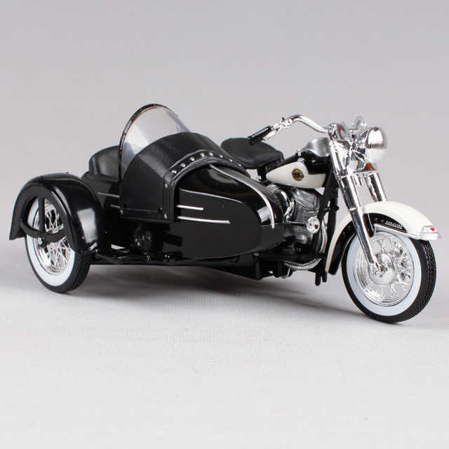Maisto 1:18 1958 FLH DUO GLIDE SIDECAR MOTORCYCLE BIKE Model FREE SHIPPING 32420
