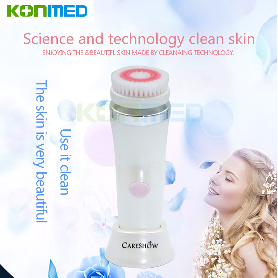 Komwell New Electric Face Cleanser Pore Clean face Cleansing Brush Massager Facial 3piese Massage head Skin Care Spa Massage 4 in 1 electric facial cleanser deep cleansing skin care blackhead removal washing brush massager face body exfoliator scrub